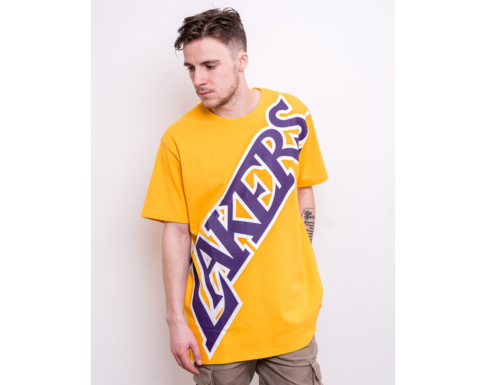 Triko Mitchell & Ness Los Angeles Lakers Big Face ...
