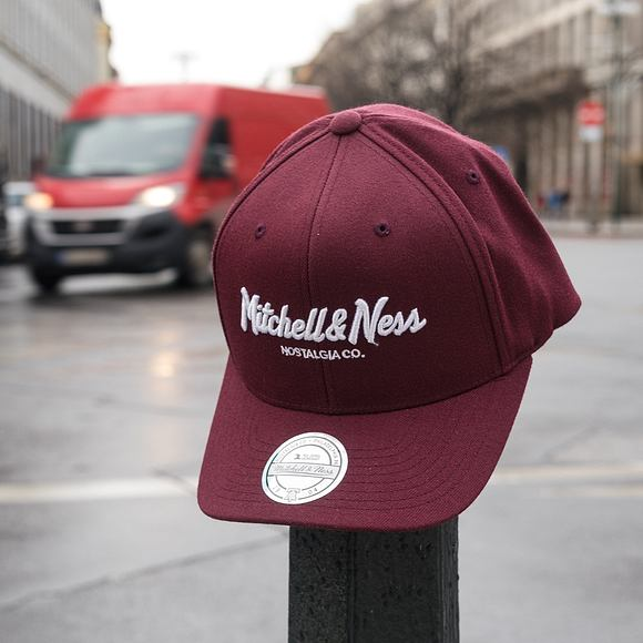 Kšiltovka Mitchell & Ness Pinscript High Crown 110 Maroon Snapback