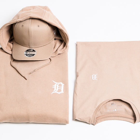 Triko New Era Detroit Tigers Pastel Mini Logo Tee Camel