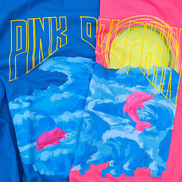 Triko Pink Dolphin Water Color Sunshine Blue