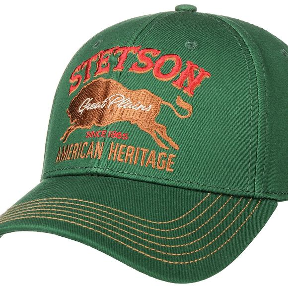 Kšiltovka Stetson Baseball Cap Great Plains Green