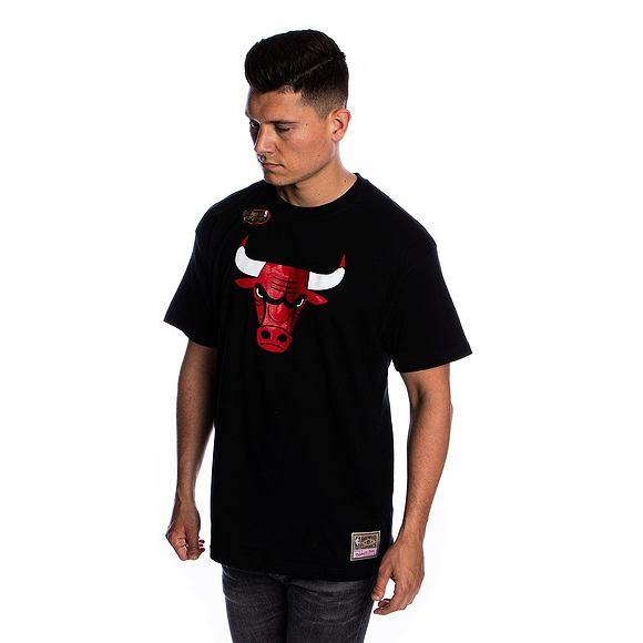 Triko Mitchell & Ness Chicago Bulls T-Shirt Team Logo Traditional Black