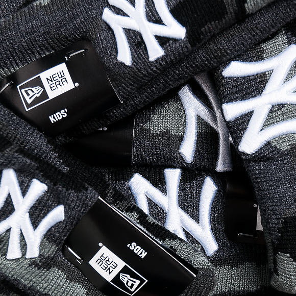 Dětský Kulich New Era Essential Camo Knit New York Yankees Toddler Marine Navy Camo/White