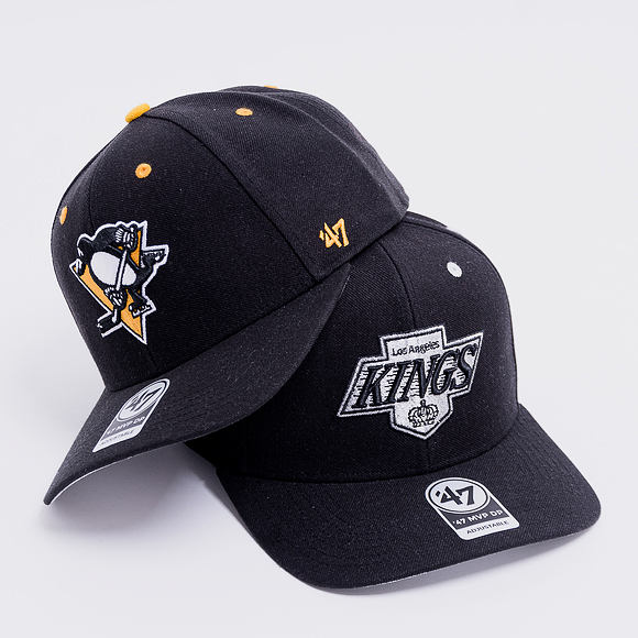 Kšiltovka 47 Brand Pittsburgh Penguins Audible MVP DP Black Strapback
