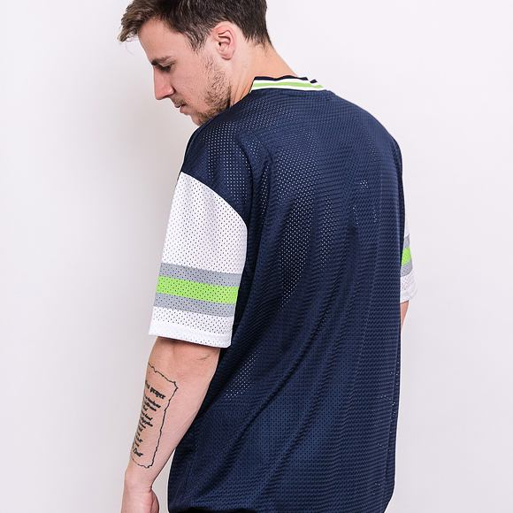 Triko New Era NFL Stripe Sleeve Oversized Tee Seattle Seahawks Oceanside Blue