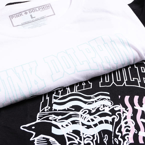 Triko Pink Dolphin Logo Sketch Tee White PS11911LSWH
