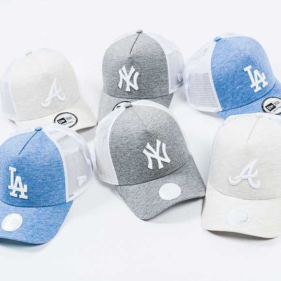 Dámská Kšiltovka New Era Jersey Essential Trucker Los Angeles Dodgers 9FORTY Black Snapback