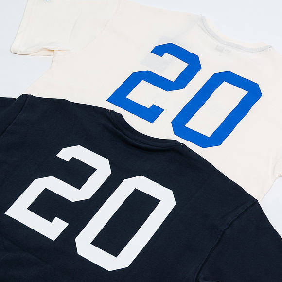 Triko New Era Branded XL Number Tee Off White