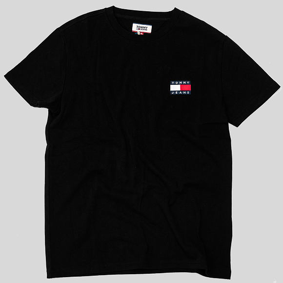 Triko Tommy Jeans Tommy Badge Tee 078 Black