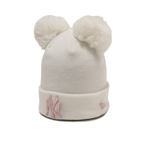 Dětský Kulich New Era New York Yankees Double Bobble Knit White/Pink Toddler