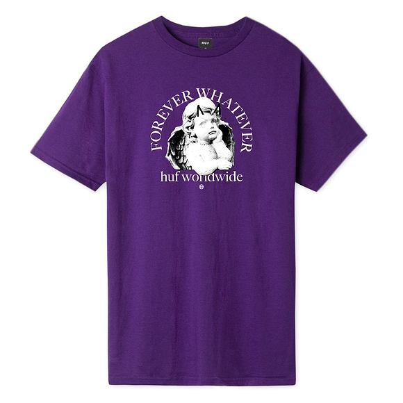Triko HUF Forever Whatever Omen T-Shirt Purple