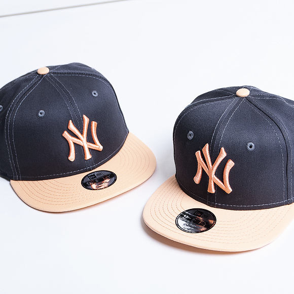 Dětská Kšiltovka New Era 9FIFTY New York Yankees Essential Grey Heather/Peach Child