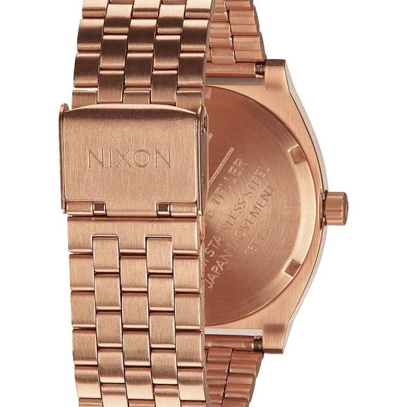 Hodinky Nixon Time Teller All Rose Gold Black Sunray A0452598