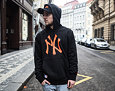 Mikina New Era New York Yankees Seasonal Team Logo Hoody Black/Rust Orange