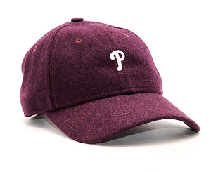 Kšiltovka New Era Melton Mini Classic Philadelphia Phillies Maroon 9TWENTY Strapback