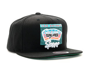 Kšiltovka Mitchell & Ness Easy Three Digital San Antonio Spurs Black Snapback