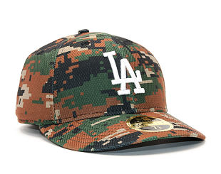 Kšiltovka New Era Diamond Era Los Angeles Dodgers 59FIFTY Woodland Camo