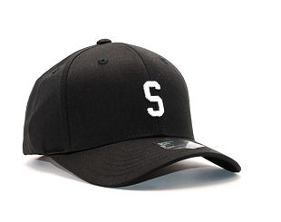 Kšiltovka State of WOW Sierra SC9201-990S Baseball Cap Crown 2 Black/White Strapback