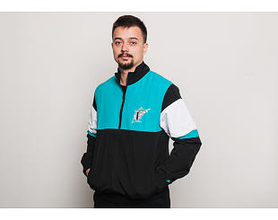 Bunda New Era Coast 2 Coast Track Jacket Florida Marlins Black/Teal