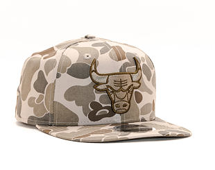 Kšiltovka New Era 9FIFTY Chicago Bulls Original Fit Light Green Camo/Black Snapback