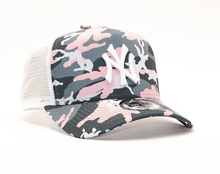 Kšiltovka New Era 9FORTY A-Frame Trucker New York Yankees Pink Camo