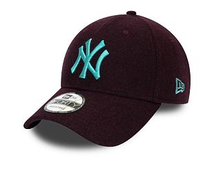 Kšiltovka New Era 9FORTY New York Yankees Melton Maroon
