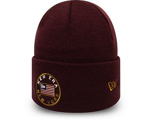 Kulich New Era Flagged Out Cuff Knit Maroon