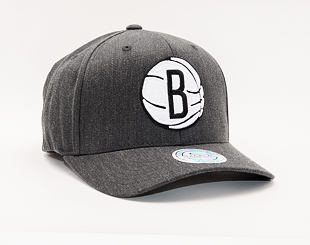 Kšiltovka Mitchell & Ness Brooklyn Nets 715 Charcoal Heather Team Pop