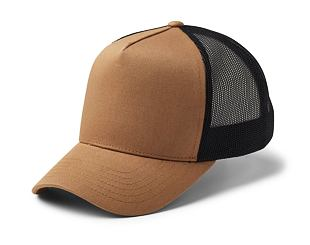 Kšiltovka State of WOW UPFRONT Reed Trucker Cap Camel/Black