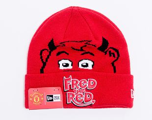 Dětský Kulich New Era Fred The Red Knit Thin Inf Manchester United Scarlet