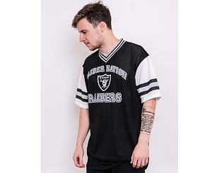 Triko New Era NFL Stripe Sleeve Oversized Tee Oakland Raiders Black