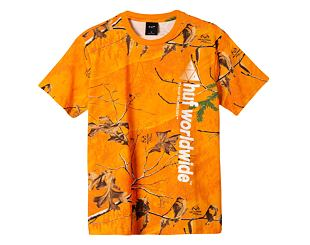 Triko HUF Realtree Peak Logo T-Shirt Orange