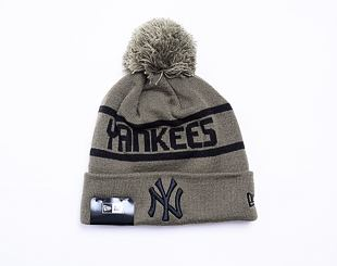 Kulich New Era Team Jake Bobble Cuff Knit New York Yankees New Olive / Black