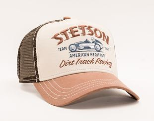 Kšiltovka Stetson Trucker Cap Dirt Track Racing Brown 7751154