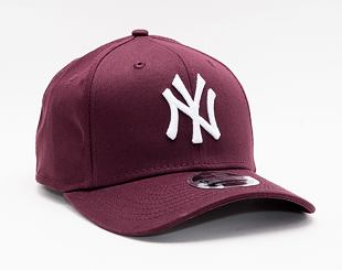 Kšiltovka New Era 9FIFTY Color Essential Stretch-Snap New York Yankees Snapback Maroon / Optic White