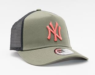 Kšiltovka New Era 9FORTY A-Frame Trucker MLB League Essential New York Yankees Snapback New Olive /