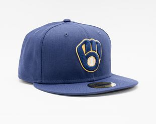 Kšiltovka New Era 59FIFTY MLB Authentic Performance Milwaukee Brewers Fitted Team Color
