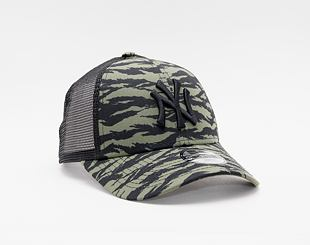 Kšiltovka New Era 9FORTY Kids Trucker MLB Tiger print New York Yankees Snapback New Olive