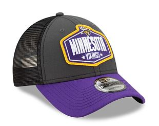 Kšiltovka New Era 9FORTY NFL 21 Draft Minnesota Vikings Snapback Heather Grey / Team