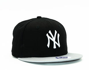 Dětská Kšiltovka New Era Cotton Block New York Yankees Black/Grey/White Snapback Youth