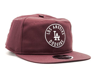 Kšiltovka New Era Taslan Emblem Los Angeles Dodgers Maroon 9FIFTY Clipback