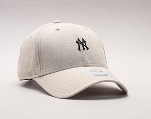 Dámská Kšiltovka New Era Linen Small Logo New York Yankees 9FORTY Camel Strapback