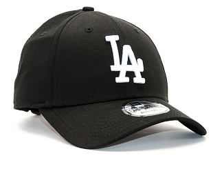 Kšiltovka New Era League Essential Los Angeles Dodgers 9FORTY Black/White Strapback