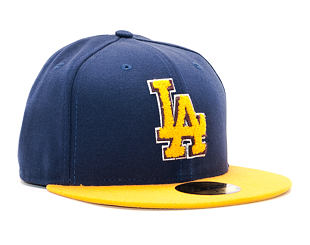 Kšiltovka New Era Chenille Plique Los Angeles Dodgers 59FIFTY Navy/Yellow