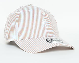 Kšiltovka New Era  Seersucker New York Yankees 9FORTY Strapback Khaki / Optic White