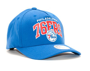 Kšiltovka Mitchell & Ness NBA Team Arch Pinch Panel 110 Philadelphia 76ers Blue Snapback