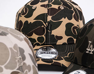 Kšiltovka New Era 9FORTY New York Yankees Dark Green Camo/Black Strapback