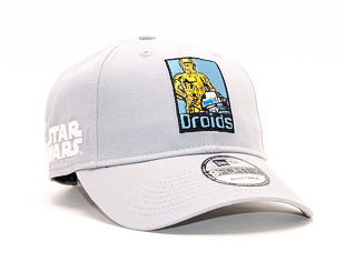 Kšiltovka New Era 9FORTY Star Wars Droids Gray Strapback