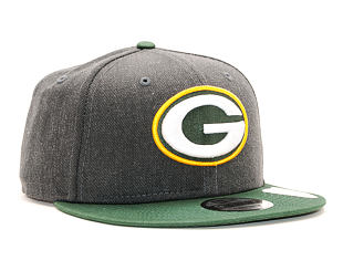Kšiltovka New Era 9FIFTY Green Bay Packers Grey Heather/OTC Snapback