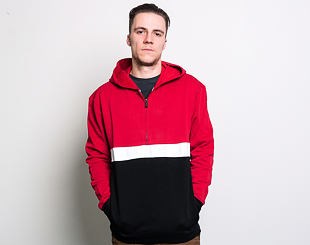 Mikina Guess Isaac HZ Hoodie Red and Black/White F59E